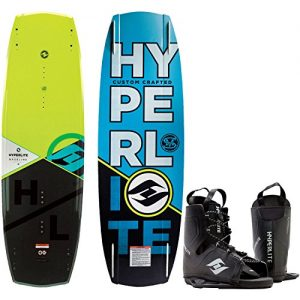 Hyperlite Baseline Wakeboard + Frequency Bindings Mens One Size 8-12