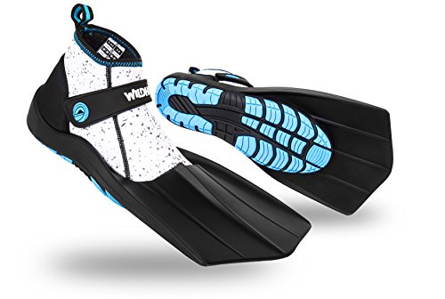 Wildhorn Topside Snorkel Fins - Compact Travel, Swim, and Snorkeling Flippers for Men and Women
