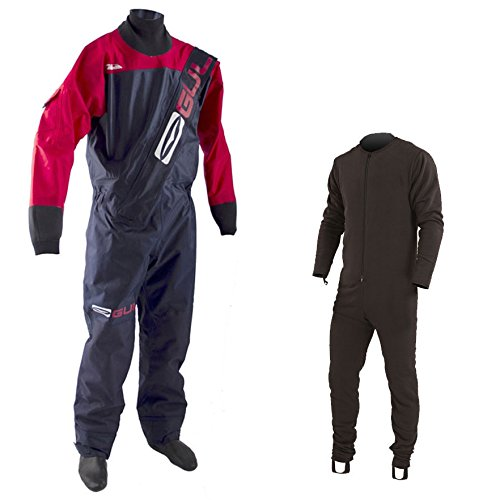 Gul Men's Gamma Front Zip Drysuit - Navy / Red