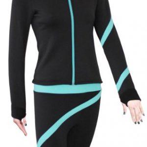 ny2 Sportswear Figure Skating Polartec Polar Fleece Spiral Jacket