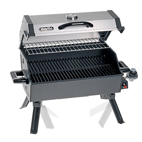 686c7210b521b9 MARTIN Portable Propane Bbq Gas Grill 14,000 Btu Porcelain Grid with  Support Legs and Grease Pan