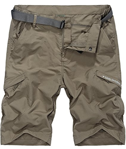 Vcansion Men's Outdoor Lightweight Hiking Shorts Loose Shorts Sports Casual Shorts