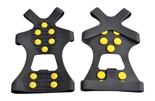 WAYPOR Ice Grips, Traction Cleats, Ice Cleat, Easy Slip On, Outdoor Durable, 10 Steel Studs