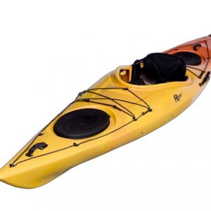 Riot Kayaks Edge 13 LV Flatwater Day Touring Kayak (Yellow/Orange, 13-Feet)