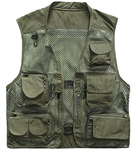 Outdoor Quick-Dry Fishing Vest; Marsway Multi Pockets Mesh Vest Fishing Hunting Waistcoat Travel Photography Jackets