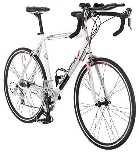 Schwinn Men's Axios TT 700c Drop Bar Triathlon Road Bicycle, White, 18-Inch  Frame