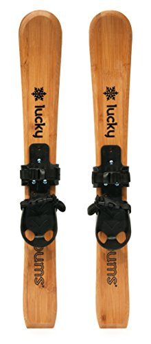 Lucky Bums Wooden Heirloom Kids Skis With Bindings