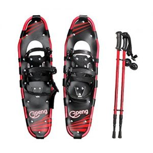 "Gpeng Snowshoes 14""/21""/25""/27""/30"" for Adults Men Women Youth Kids with Pair Antishock Snowshoeing Poles"