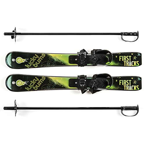 Lucky Bums Kid's Beginner Snow Skis and Poles