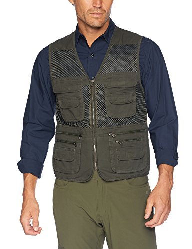 Men's Mesh Fishing Vest Photography Work Multi-pockets Outdoors Journalist's Vest Jacket