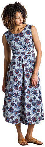 ExOfficio Women's Wanderlux Cap Sleeve Midi Dress
