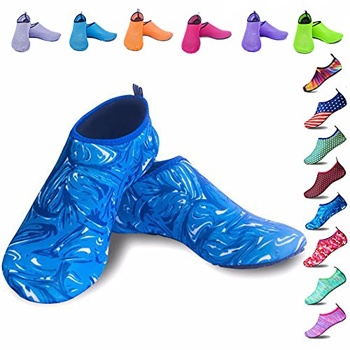 Peicees Mens and Womens Water Shoes Quick Dry Dive Beach Aqua Water Socks