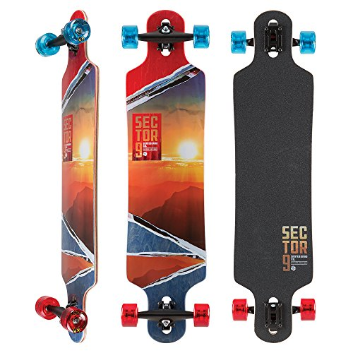 Sector 9 - Vista Meridian Complete 40 Inch Maple Drop Through Longboard for Freeride and Commuting