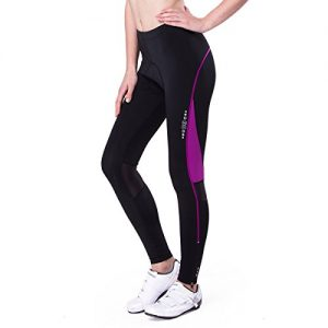 Eco-daily Women's Cycling Tights 4D Padded Breathable Long Bike Bicycle Pants With Pocket
