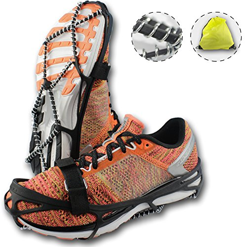 Traction Cleats, Crampons for Walking on Snow and Ice, Anti-slip Ice Grips, Snow Grips, Universal Size