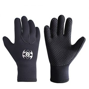 Diving Gloves Neoprene, Wetsuits Five Finger Gloves, 3MM Anti Slip Flexible Thermal Material
