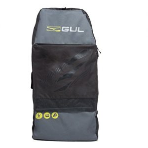 "Gul Arica Bodyboard Bag Back Pack for 2 x 42"" Adult Bodyboards. Black / Yellow"