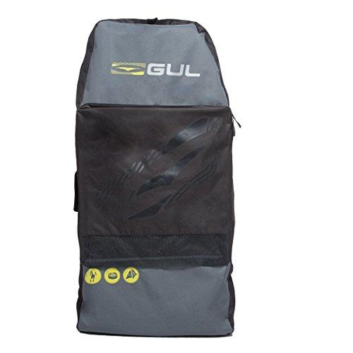 "Gul Arica Bodyboard Bag Back Pack for 2 x 42"" Adult Bodyboards. Black / Yellow"