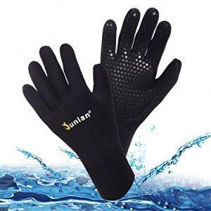 Junlan Neoprene Diving Gloves, Wetsuits Glove for Snorkeling, Kayaking, Water Jet Skiing, Sailing, Scuba Diving, Rafting