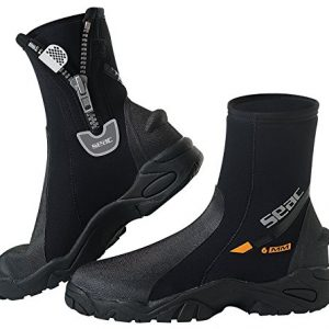 SEAC Pro HD 6mm Neoprene Wetsuit Boots with Side Zipper