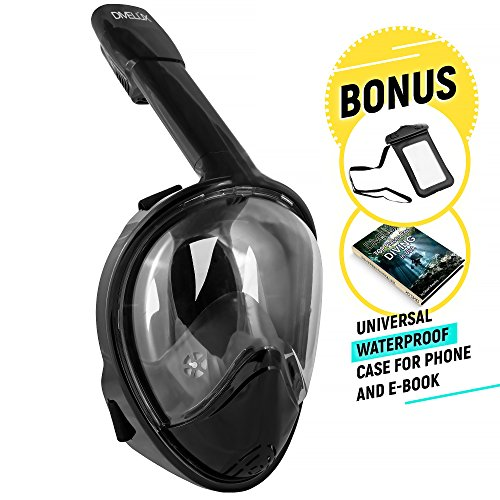 Full Face Snorkeling and Diving Mask with 180° Panoramic Viewing