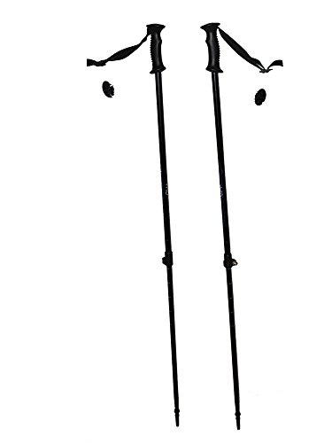 WSD Ski Poles Telescopic Adjustable Adult Downhill/Alpine Pair with Baskets 115 cm - 135 cm New