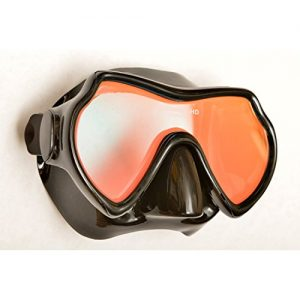 Oceanways Superview-HD w/ Anti-UV/Glare Optical Multicoating w/Anti-Fog Scuba/Spearfishing Dive Mask (OM940BKSFF) by SeaDive
