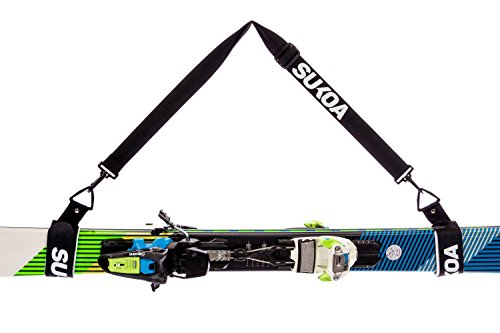 Ski Shoulder Sling with Cushioned Velcro Holder