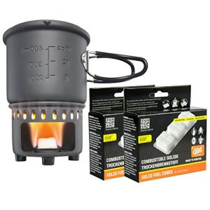 Esbit 3-Piece Lightweight Camping Cook Set for Use with Solid Fuel Tablets