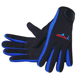 DIVE & SAIL Wetsuits 1.5 mm Premium Neoprene Gloves Scuba Diving Five Finger Glove
