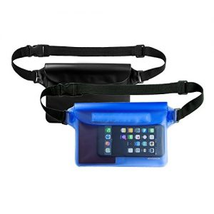 Venterior Waterproof Pouch 2 Pack with Waist Strap - Keep Your Phone Wallet License Safe and Dry