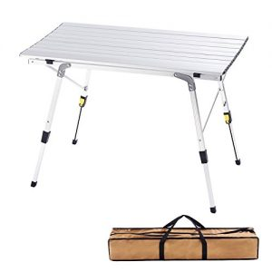 Adjustable Folding Table Camping Outdoor Lightweight for Camping