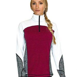 WoolX Rory - Women's Quarter Zip Sweater - Moisture Wicking Merino Pullover