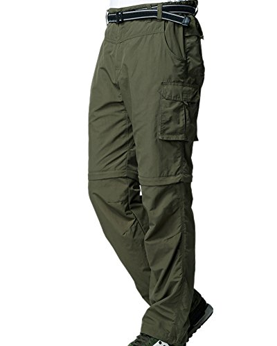 Men's Outdoor Anytime Quick Dry Convertible Lightweight Hiking Fishing Zip Off Cargo Work Pant #225