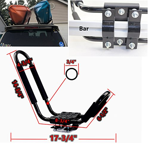 Kayak Roof Carrier >> Kayak Roof Rack Black J Kayak Carrier For Roof Rack For Suv 2pairs