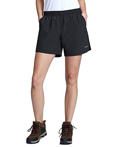 "Baleaf Women's 5"" UPF 50+ Zip Pocket Outdoor Water River Hiking Shorts"