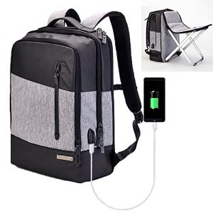 Smart Laptop Backpack with Folding Stool