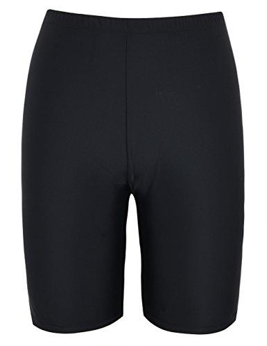 Hilor Women's UV Long Bike Shorts Rash Guard Boy Leg Swim Bottom Active Sport Pants