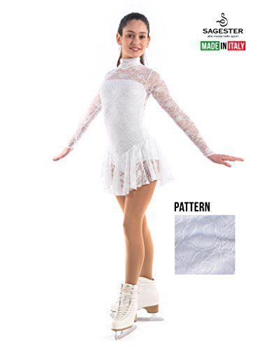 Sagester Italy Hand-Made, Figure Ice Skating Dress, Roller Skating