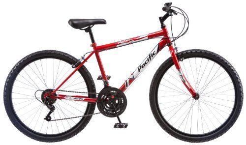 Pacific Men's Stratus Mountain Bike, Red, 26-Inch