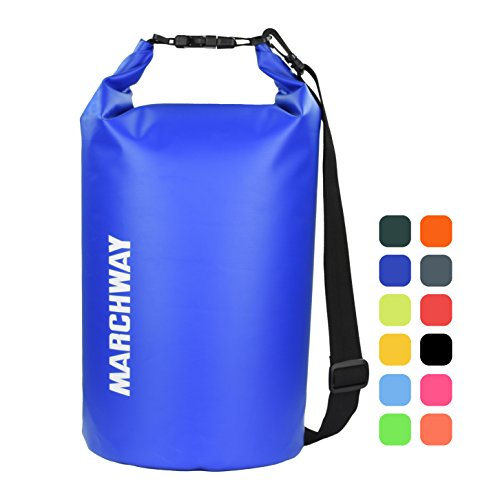 Roll Top Sack Keeps Gear Dry for Kayaking, Rafting, Boating, Swimming, Camping, Hiking, Beach, Fishing