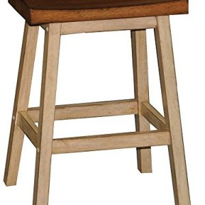 Quails Run 24 in. Saddle Counter Stool - Set of 2