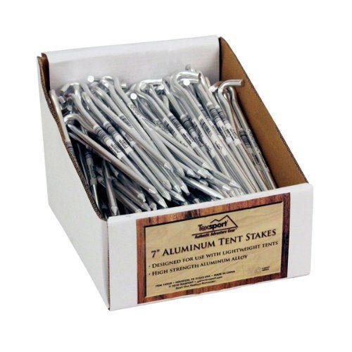 Texsport 200/Cs. Set Tent Peg Aluminum Bucket (200 Piece), Silver
