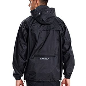 Baleaf Unisex Packable Outdoor Waterproof Rain Jacket Hooded Raincoat Poncho
