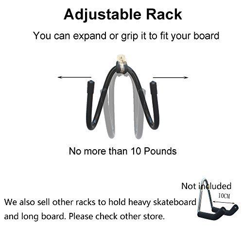 YYST Skateboard Wall Hanger Wall Storage Clip Skateboard Wall Rack Wall  Mount - for Skateboard and Longboard