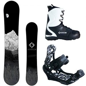 System 2019 MTN and APX Complete Men's Snowboard Package