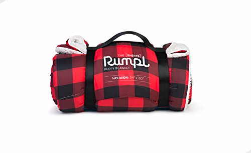Rumpl The Sherpa Puffy Blanket | Ultra Soft Warm Outdoor Fleece Sherpa Blanket for Camping, Picnics, Traveling, Concerts