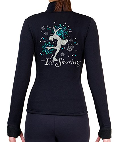 ny2 Sportswear Figure Skating Polartec Polar Fleece Jacket with Rhinestones JS100