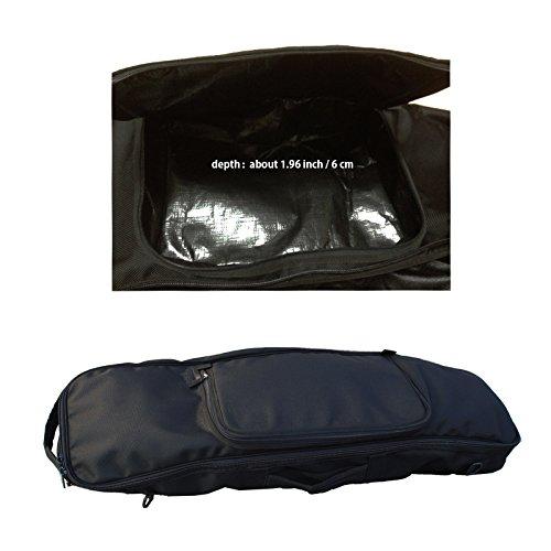 11c624bc5a24 OS Company Skateboard Bag Backpack Travel Bag Black Color long board carver  board carrying. See at Amazon