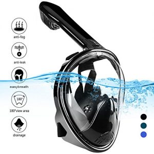 Snorkel Mask 180° Panoramic View Diving Scuba Mask Easy breath with Anti-Fog and Anti-Leak